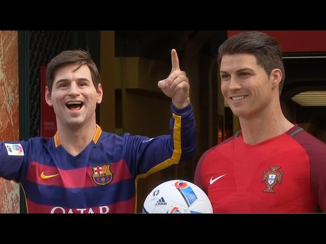 Wax Figures Of Lionel Messi & Cristiano Ronaldo Were Unveiled Ahead Of The Start Of Euro 2016