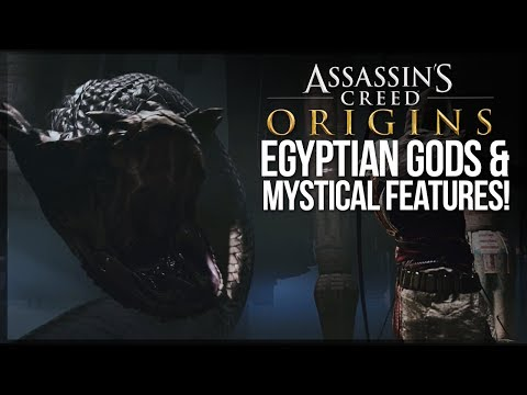 Assassin's Creed Origins | EGYPTIAN GODS & MYSTICAL FEATURES - Giant Snake God, Boss Fights & MORE!