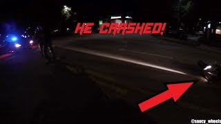 BIKES VS COPS - Bikers CHASED BY HELI & CAUGHT By POLICE #45 - FNF