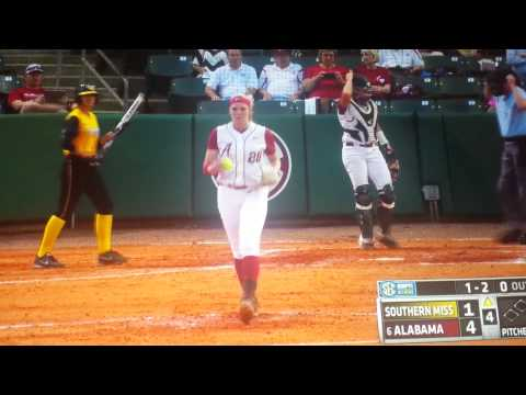 Katie Cleary hits against Alabama