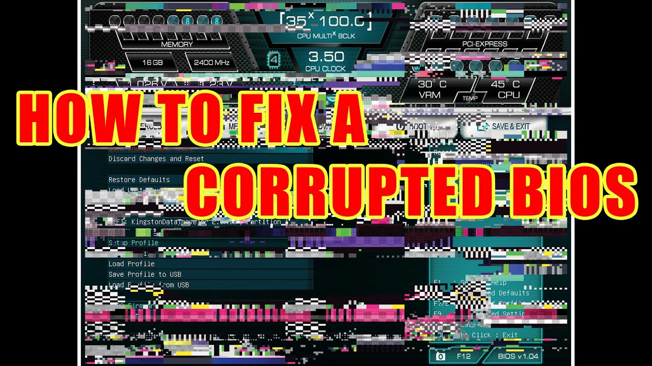 Main BIOS Checksum error Repair - PageBD Com