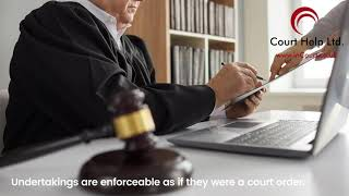 Undertakings in Non Molestation matters | Court Help Limited