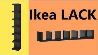 Install ikea lack shelf