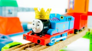 thomas friends castle quest set train toys from cartoon king of the railway video for children