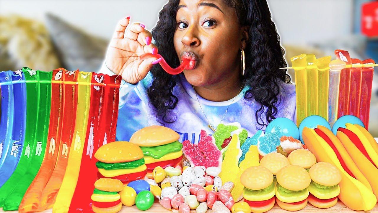 I ate popular ASMR FOODS!