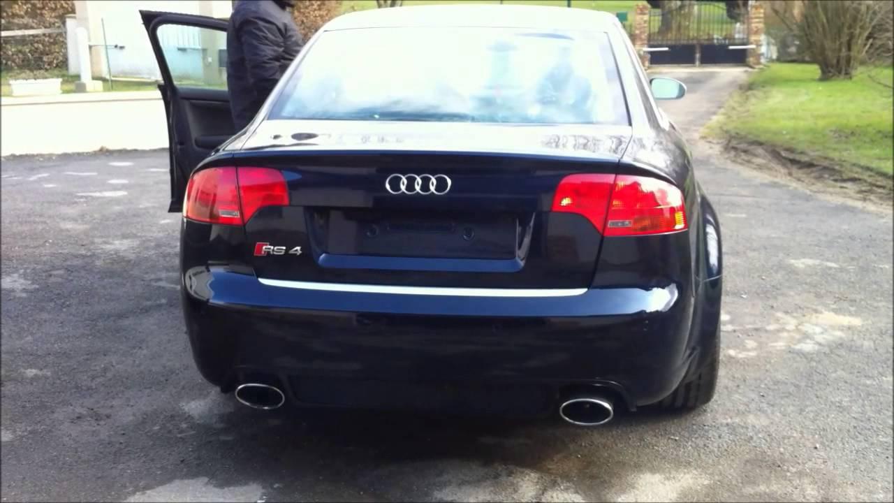 Audi s4 b7 4 2 v8 full rs4 echappement sans silencieux for Interieur cuir audi a4 b7