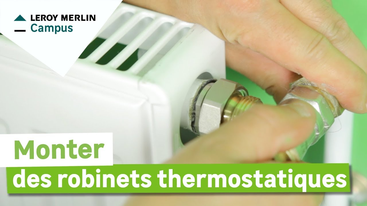 comment monter des robinets thermostatiques ? leroy merlin - youtube - Robinet Thermostatique Seche Serviette