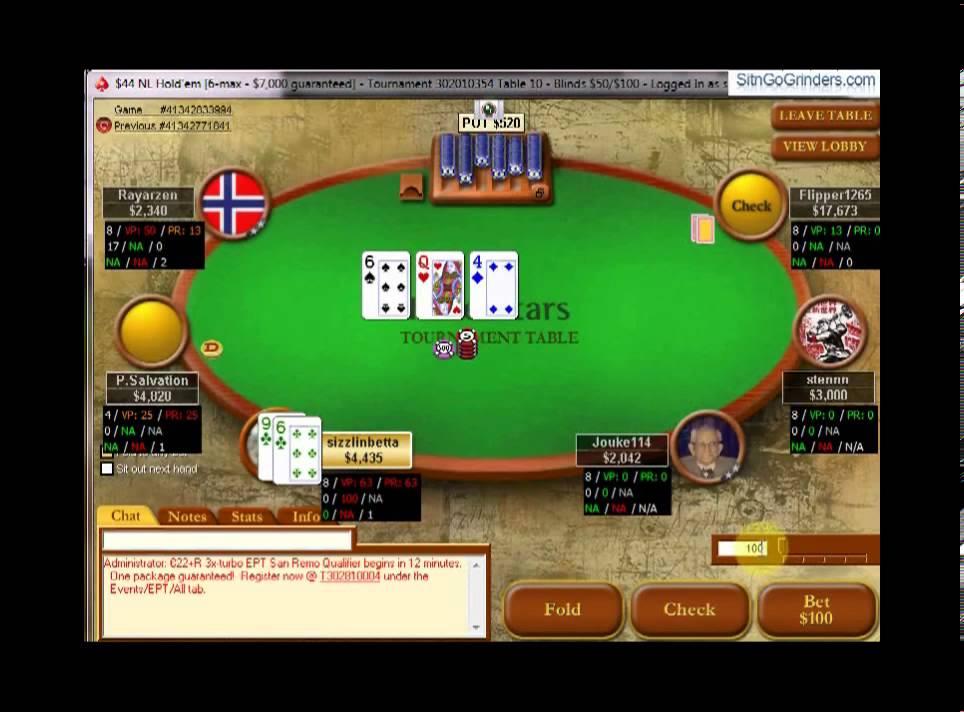 Sizzlinbetta Plays In A 6 Man Multi Table Tournament On Stars