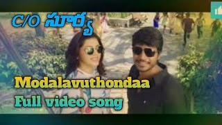 Modalavuthondaa full video song  c/o surya   sundeep kishan  meherene Pirzada Suseenthiran  D imman