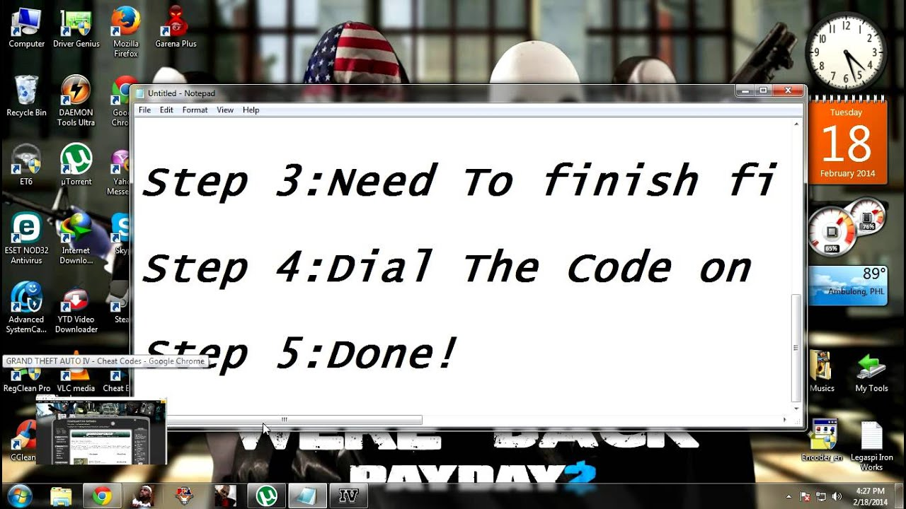 How to enter codes in GTA 4 35