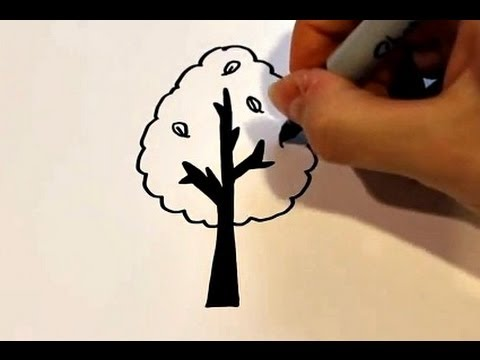 How To Draw A Cartoon Tree Youtube C4d 3ds dae dxf fbx obj wrl oth. how to draw a cartoon tree
