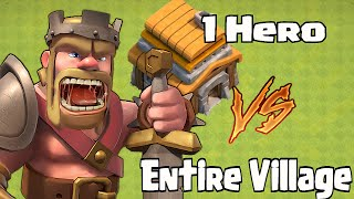 "PACMAN ""1 Lvl 2 Hero vs 1 Base! Clash of clans"""