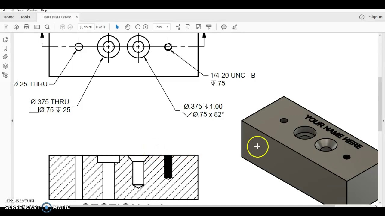 Pltw Ied 5 5 Countersink In Fusion 360 Youtube