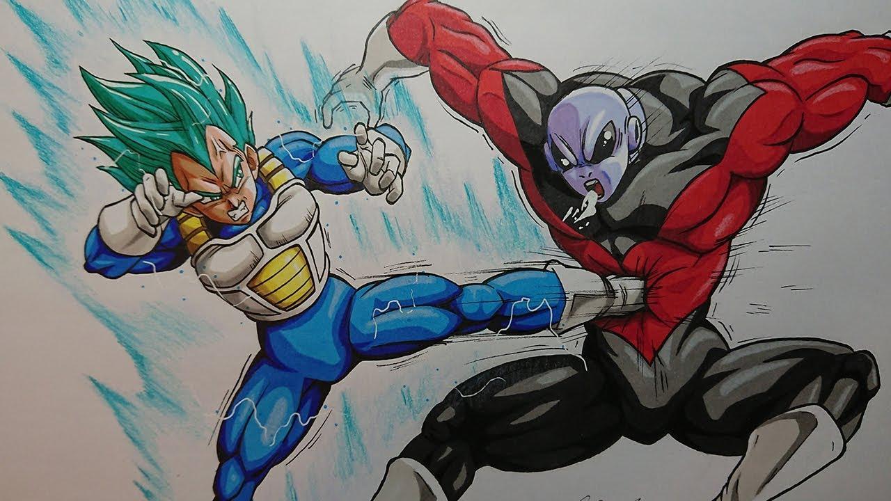 Vegeta vs Jiren - Drawing | Dragonball Super Episode 122 ...