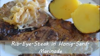 Rib Eye Steak In Honig Senf Marinade