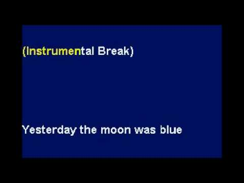 Yesterday When I Was Young - Karaoke by Allen Clewell