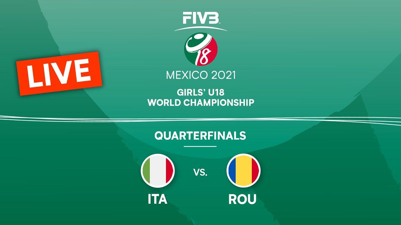 Download LIVE 🔴 ITA vs. ROU - Quarterfinals   Girls U18 Volleyball World Champs 2021