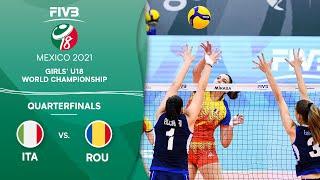 LIVE 🔴 ITA vs. ROU - Quarterfinals | Girls U18 Volleyball World Champs 2021