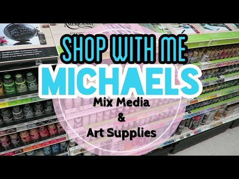 Mix Media & Fave Art Supplies at Michaels | SHOP WITH ME | I'm A Cool Mom
