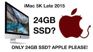 iMac 5K Late 2015 1TB Fusion Drive  24GB SSD 1TB HDD Speed test