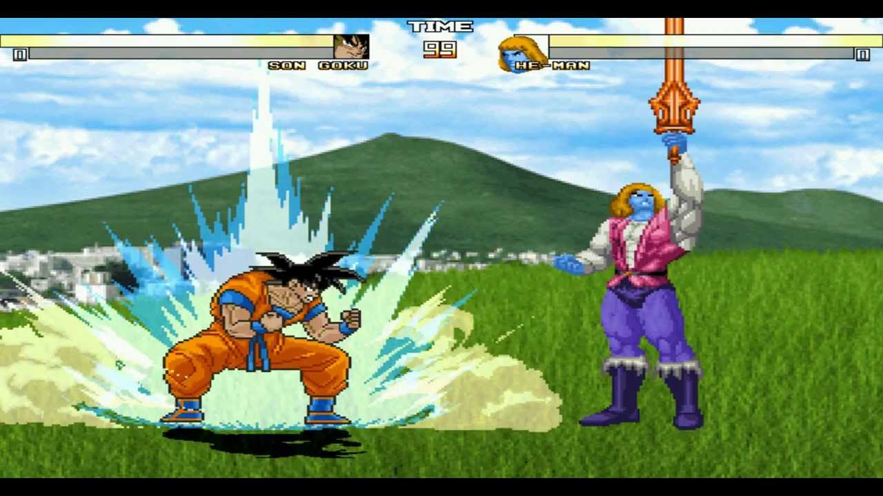 Pointless RI MUGEN Test: Goku (Choujin) VS He-Man (Arcade)