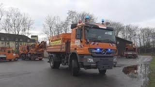 Streu- und Räumfahrzeug Straßen.NRW Autobahnmeisterei Sankt Augustin