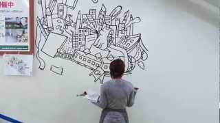 Live Painting at Tokyu Hands SHIBUYA