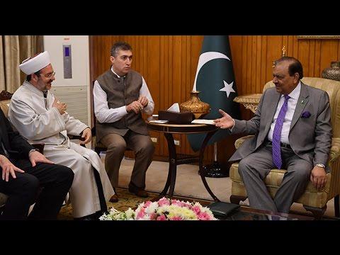 Diyanet İşleri Başkanı Görmez, Pakistan Cumhurbaşkanı Memnun Hüseyin ile görüştü