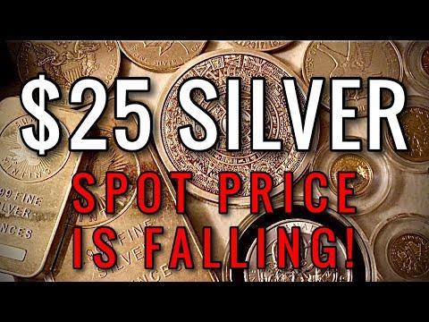 Download Silver Spot Price Falls to $25/oz Range & Is The Stock Market Crashing Again 2021?