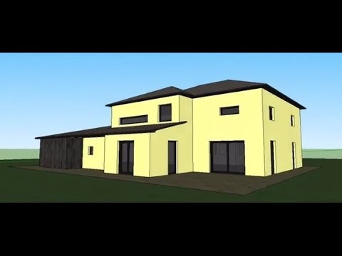 Google sketchup speed modeling simple house youtube for Minimalist house sketchup