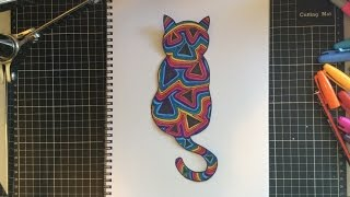 How to Draw a Psychedelic Kitty Cat with Sharpies and Pen