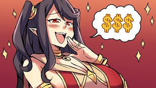 Smug Anime Gamer Girl Pays For Expensive PvP Gear