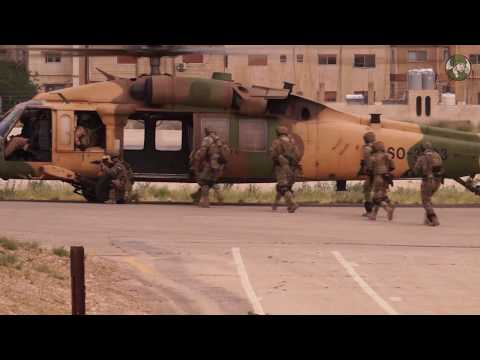 SOFEX 2018 opening ceremony Special Forces Exhibition Amman live demo Jordan armed forces