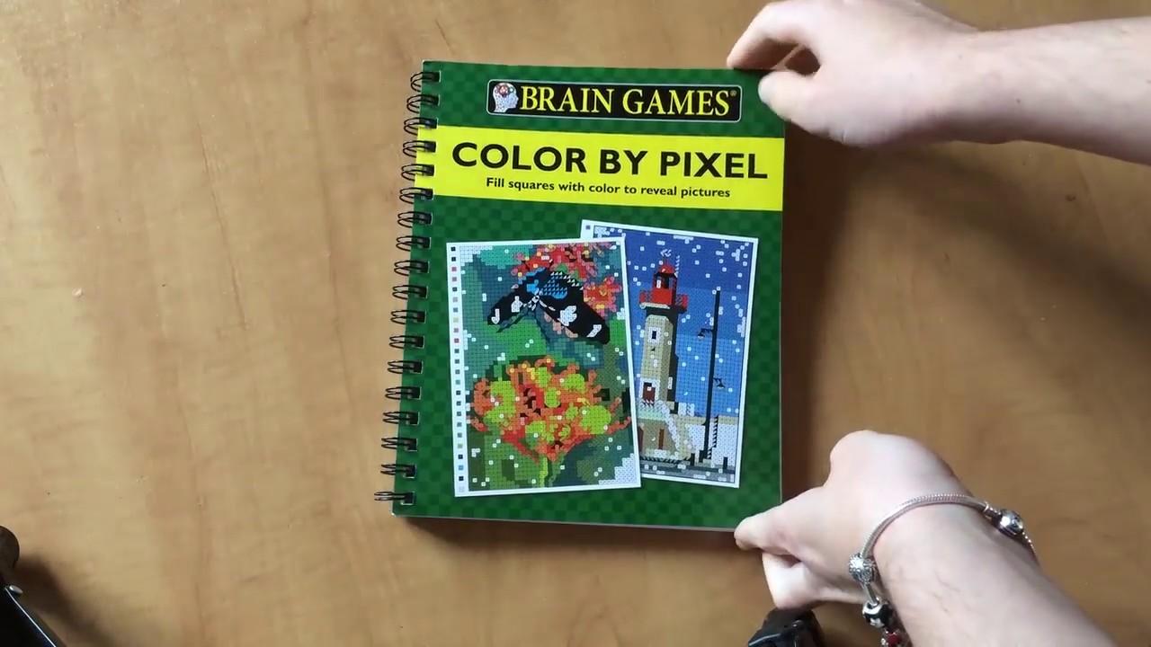 Flip Through Critique Du Livre Color By Pixel Brain Games Youtube