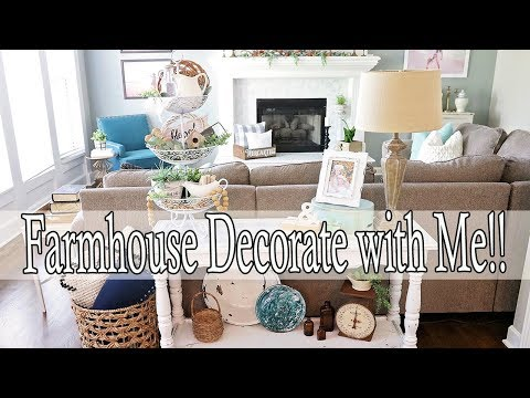 Farmhouse Decorating Ideas ⭐ Decorate with Me 2019