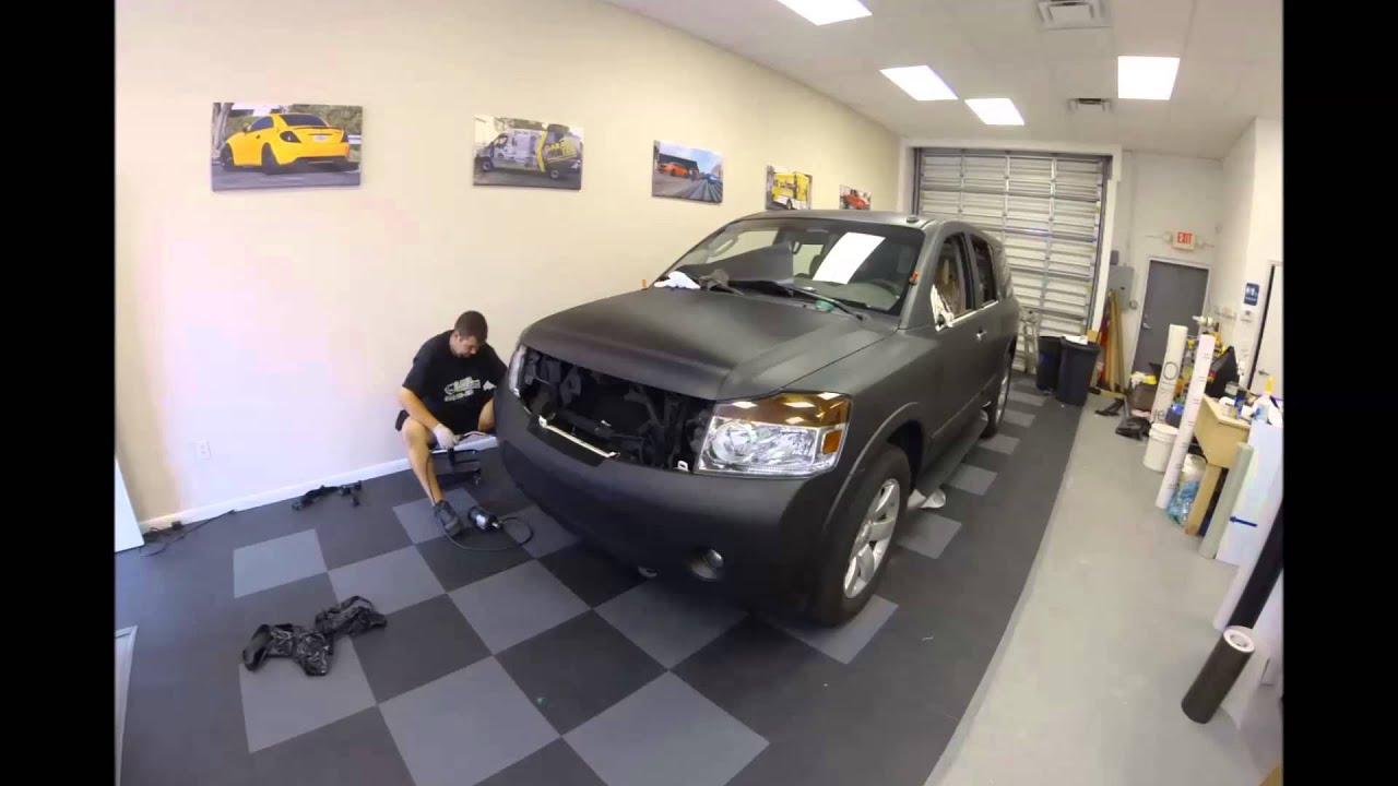 Nissan Armada Matte Black 3M vinyl wrap by Florida Car ...