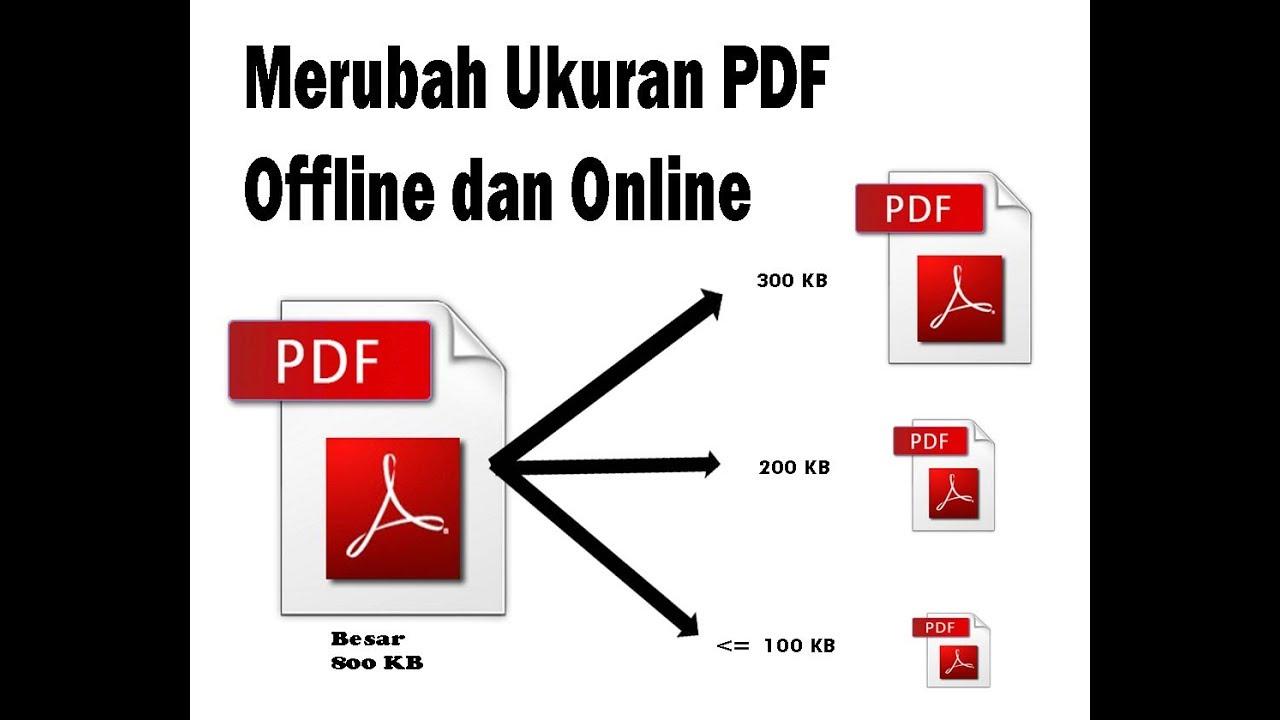 Cara Mudah Merubah Ukuran Pdf Offline Dan Online How To Easily