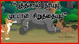புத்திசாலி ஜேகல் மற்றும் முட்டாள் கூத்தாடி   Jackal And The Dead Elephant   Panchatantra Moral Story