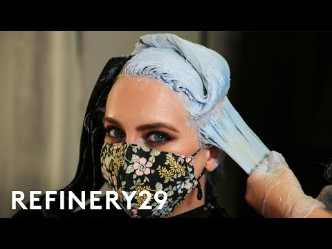 I Dyed My Blonde Hair Mermaid Blue | Hair Me Out | Refinery29
