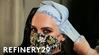 I Dyed My Blonde Hair Mermaid Blue   Hair Me Out   Refinery29