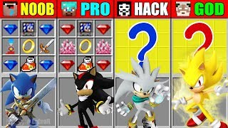 Minecraft NOOB vs PRO vs HACKER vs GOD SONIC THE HEDGEHOG CRAFTING CHALLENGE in Minecraft Animation
