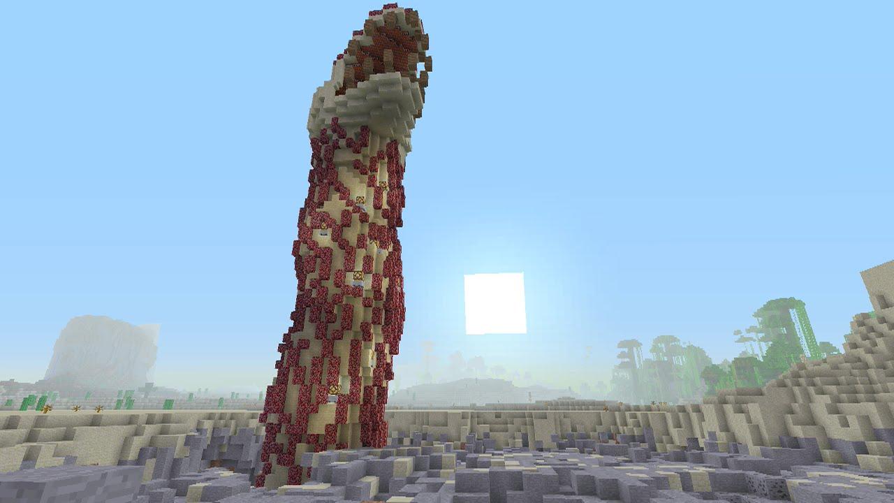 Minecraft Xbox  Monster Land  Death Worm 1  YouTube