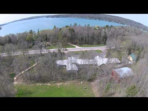 Aerial View of Elvyn Lea Lodge & Grounds, Boyne City, MI