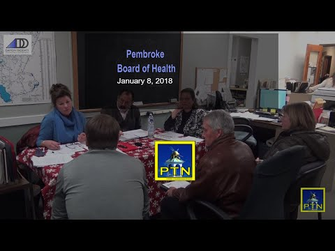Pembroke Board of Health January 8, 2018