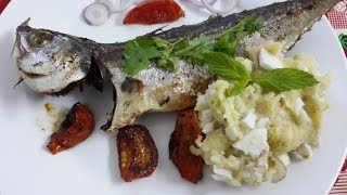 Baked  Mackerel With Smashed Potato And Eggs