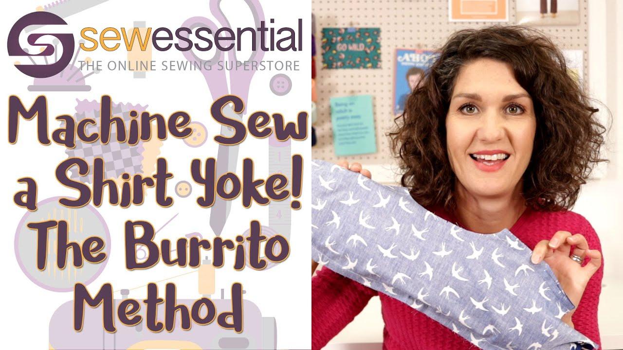 How to Sew a Shirt Yoke - the Burrito Machine Sewn Method