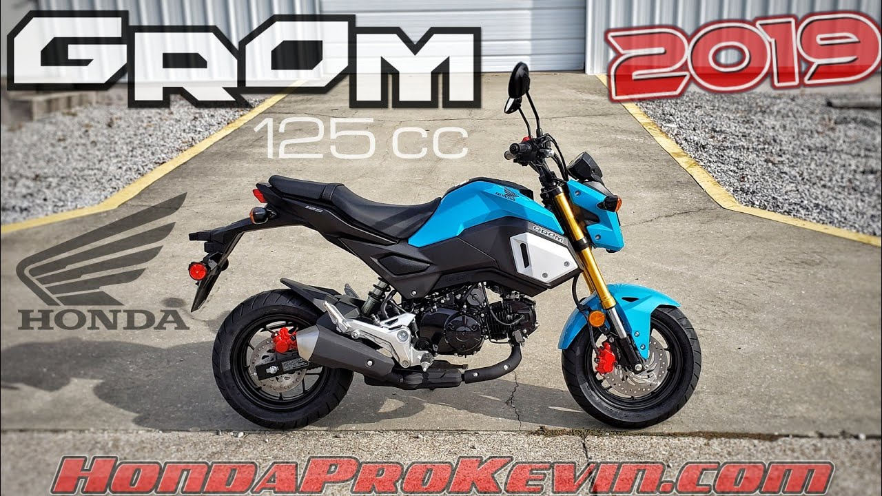 Honda Grom Review >> 2019 Honda Grom 125 Walk-around 'Blue Raspberry' | Mini ...