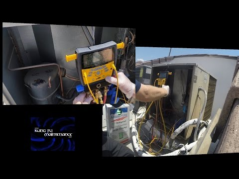 Halfllive AC Air Conditioner Running Low On Freon Gas Charge Compressor Surgery Resuscitation