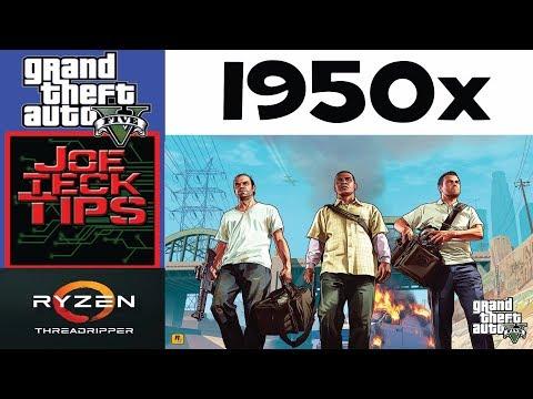 GTA 5 on the 1950x Threadripper | RockStar | JoeteckTips | 13 cores?