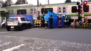 【観覧注意】JR横浜線 相模原踏切人身事故 thumbnail